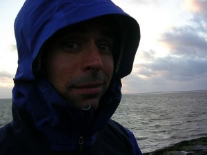 Jeremy in the wind on the North Sea