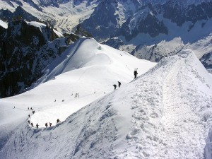 Ridge to the Vallée Blanche from the Aiguille du Midi