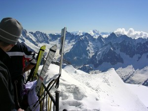 The view from the Aiguille du Midi